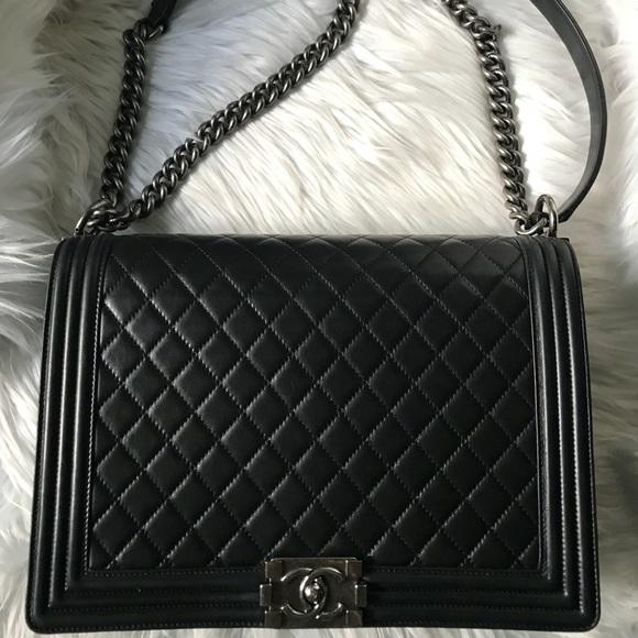 94962070621c CHANEL Handbags - Chanel Le Boy Lambskin Leather Cross Body Bag